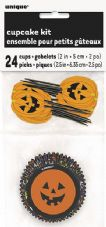 Halloween Pumpkin Face Cupcake Kit